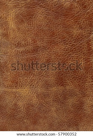 Close-up brown leather texture to background - stock photo