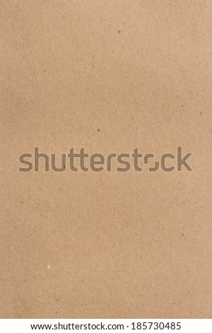 close up brown recycled paper texture background for vertical - stock photo