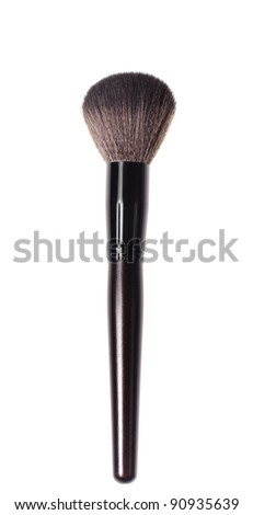 close up brush for make-up, isolated on white - stock photo
