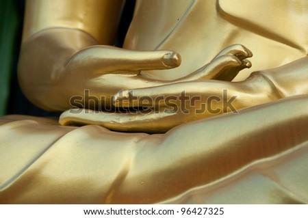 close up buddhist statue - stock photo