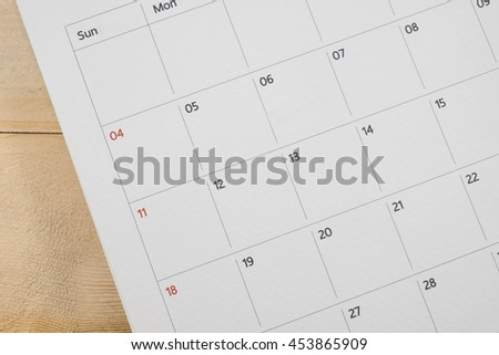 close up calender date background - stock photo