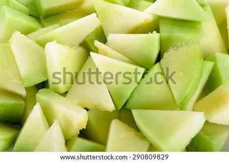 Close up cantaloupe melon background texture. - stock photo