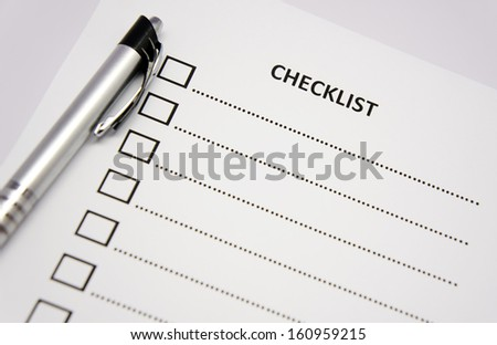 close up checklist and pen - stock photo