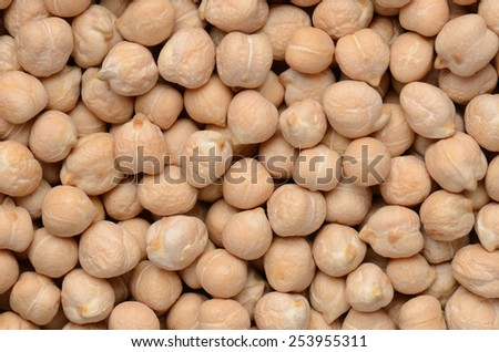 close up chick-pea grains background - stock photo