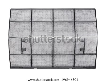 Close up clean air conditioner filter isolated on white - with path - stock photo