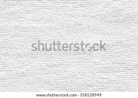 Close - up Clean white towel texture and seamless background - stock photo