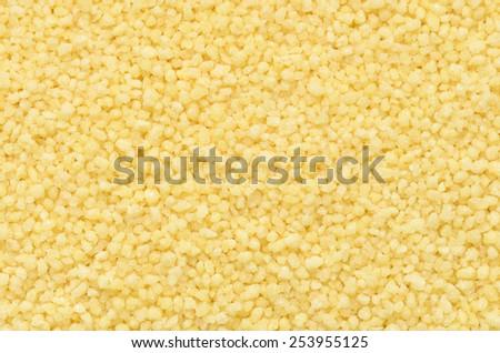 close up couscous grains background - stock photo