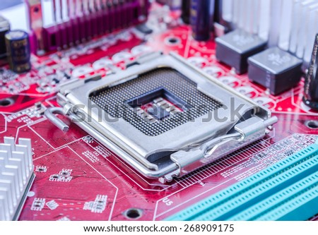 Close up CPU Socket  - stock photo