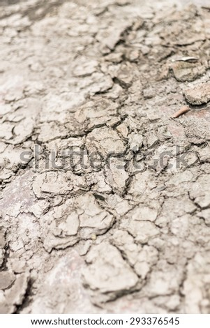 Close up Cracked clay textured background