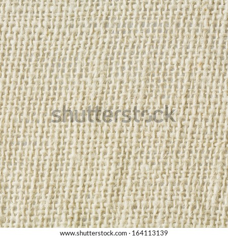 Close up cream color sackcloth texture background - stock photo