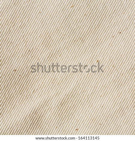 Close up cream color unbleached muslin cloth texture  - stock photo