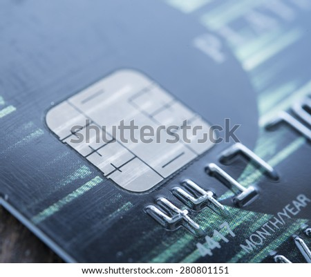 close-up credit card. finance and personal loan concept. - stock photo