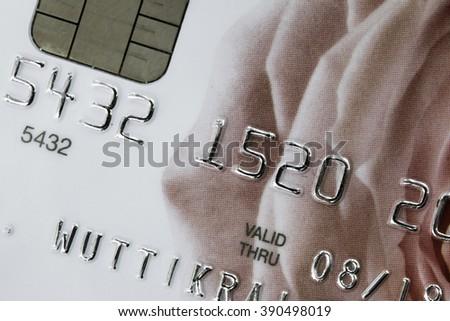 Close Up Credit Card (selective Focus) - stock photo