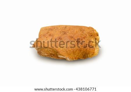 close up crispy pork on white background - stock photo