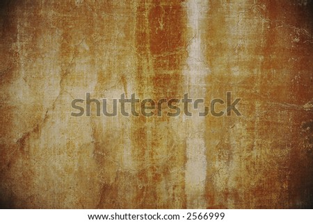 close up dark ochre grunge wall background rome italy - stock photo