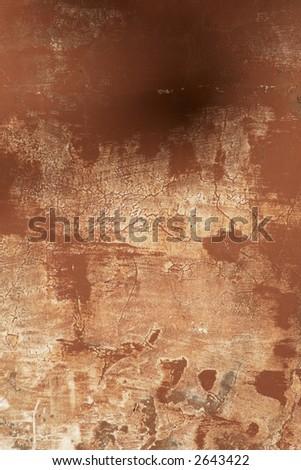 close up dark terracotta wall background rome italy - stock photo