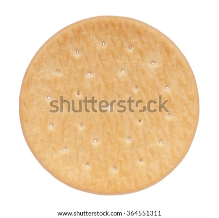 Close up delicious cookie - isolated on white background - stock photo