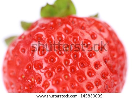 Close-up detail of a fresh red strawberry