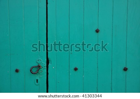 Close up Detail of a Wooden Door, with Plenty of Copy Space