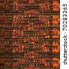 Close up detail of handwoven fabric in autumn colors - stock photo