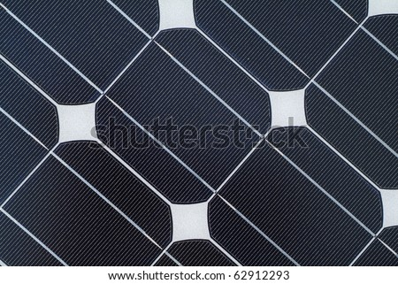 close up detail of solar panel - stock photo