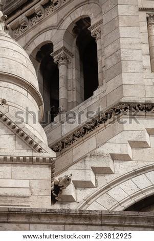 Close up detail of the Sacre Coeur (Sacred Heart) church, Paris, France - stock photo