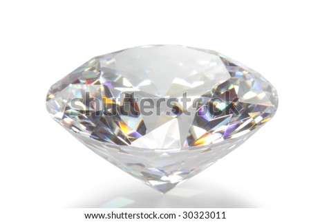Close-up diamond - stock photo