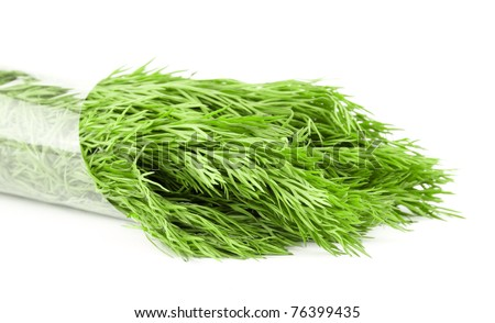 Close-up  dill isolated on white background