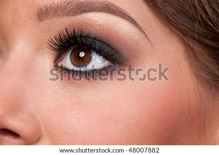 Close up face of beautiful glamour woman
