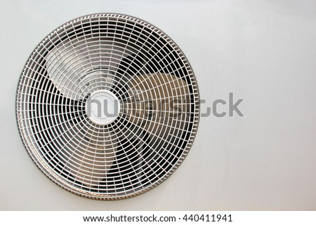 Close up fan in compressor air conditioner