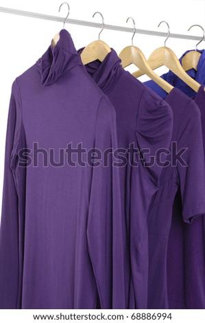Close up fashion clothing on hanging - stock photo