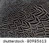 close up feather texture - stock photo