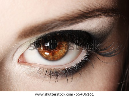 close-up female eye - stock photo