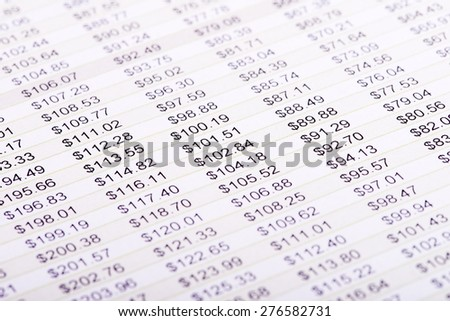 Close up financial Analysis concept - stock photo