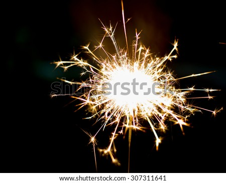 Close up firework for new year design - stock photo