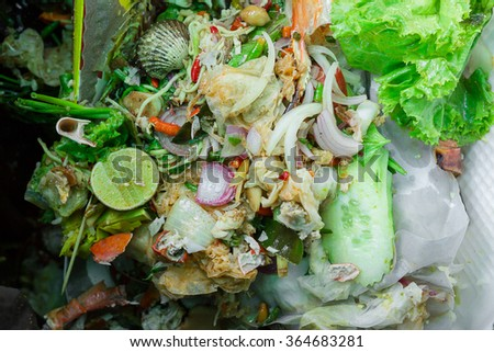 Close up  Food Waste - stock photo