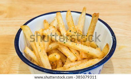 close up french fries - stock photo