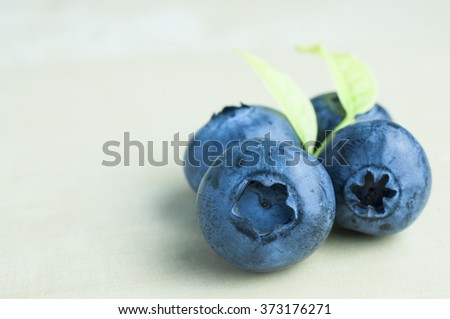 Close up fresh blue berries  - stock photo