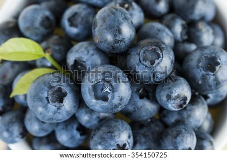 Close up fresh blueberries - stock photo