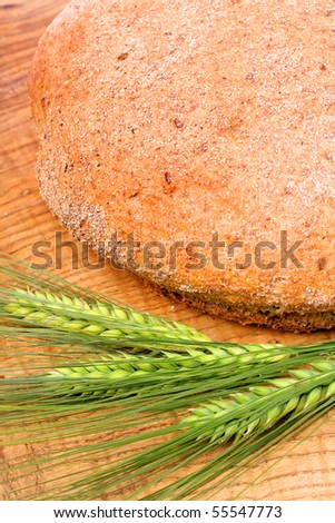 Close up fresh bread with corn. - stock photo