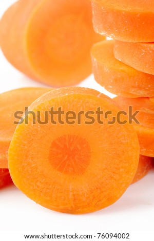 close up fresh carrots - stock photo