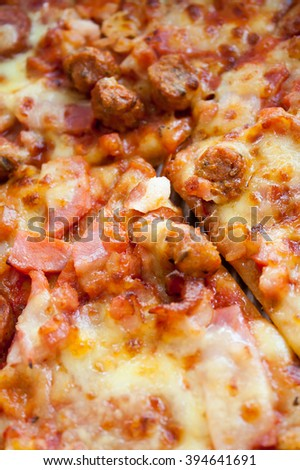 close up fresh Pizza background