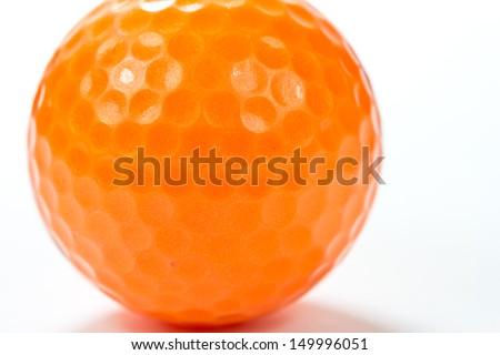 Close up golf ball on white background - stock photo
