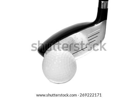 close up golf driver - stock photo