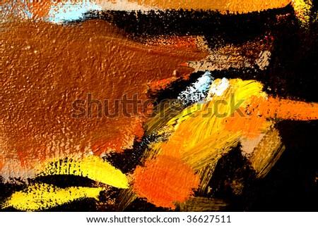 Close Up Grafitti Paint Wall - stock photo