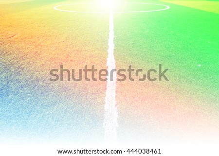 Close up green grass for football sport football field with color filters - stock photo