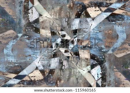 Close up grunge graffiti background - stock photo