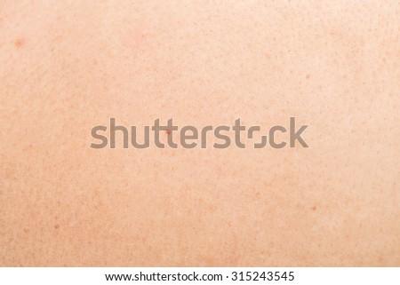 Close up human skin texture background - stock photo