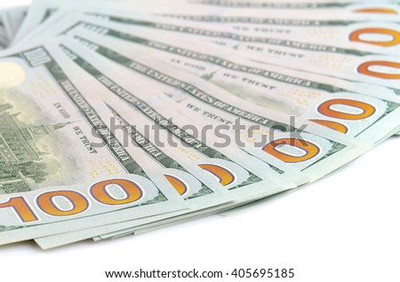 close up hundred dollars bank notes background