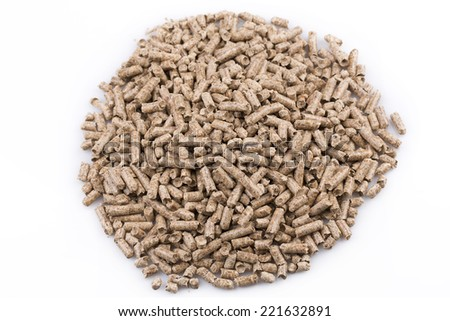 Close up image of a wooden pellets - stock photo
